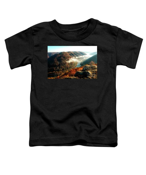 Toddler T-Shirt featuring the photograph Grandview New River Gorge by Thomas R Fletcher
