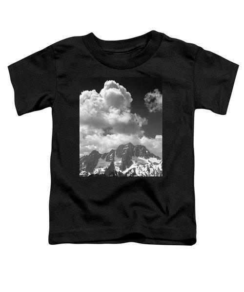 304638 Clouds Over Mt. Stuart Bw Toddler T-Shirt