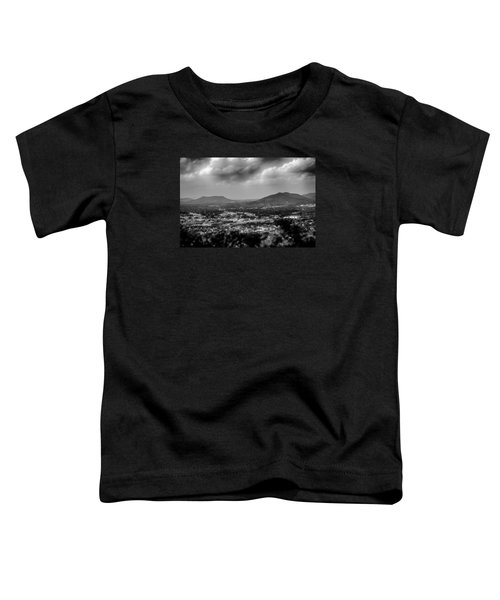 Roanoke City As Seen From Mill Mountain Star At Dusk In Virginia Toddler T-Shirt