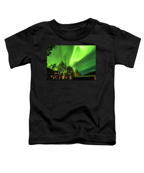 Northern Lights, Aurora Borealis At Kantishna Lodge In Denali National Park Toddler T-Shirt
