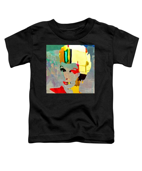 Toddler T-Shirt featuring the mixed media Lucille Ball by Marvin Blaine