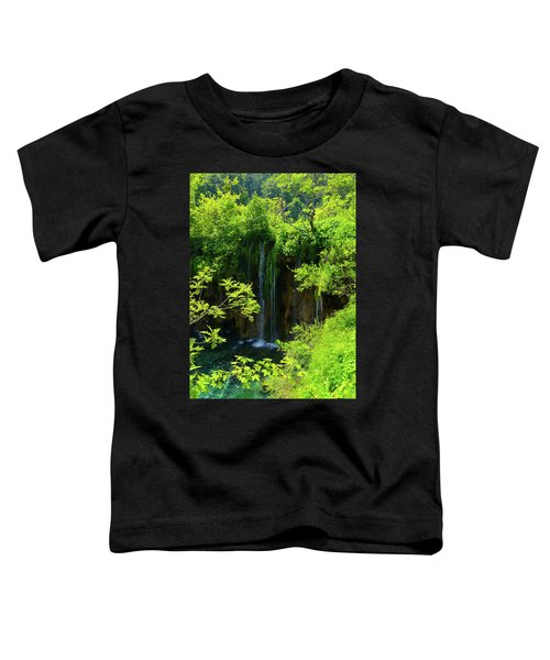 Waterfall In Plitvice National Park In Croatia Toddler T-Shirt