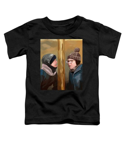 A Christmas Story Tongue Stuck To Pole Toddler T-Shirt
