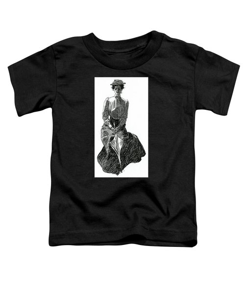 A Gibson Girl With Parasol Toddler T-Shirt