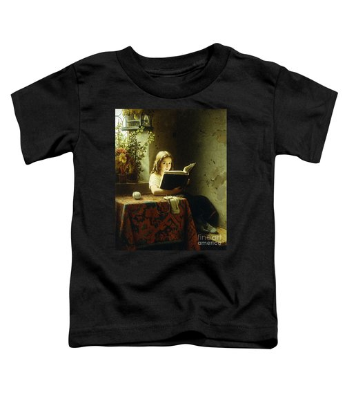 A Girl Reading Toddler T-Shirt