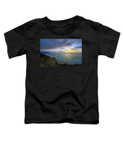 A Hang Glider And A Sunset Toddler T-Shirt