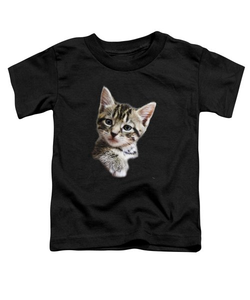 A Kittens Helping Hand On A Transparent Background Toddler T-Shirt