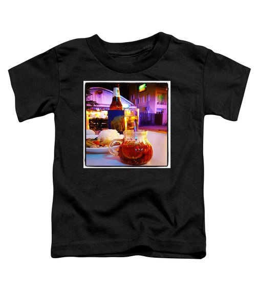 Toddler T-Shirt featuring the photograph A Little Dab Will Do Yah. It's Sliced by Mr Photojimsf