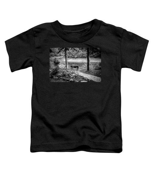 A Lone Bench By The Nantahala River Toddler T-Shirt