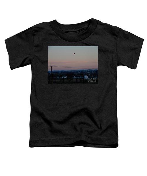 A Morning Hot Air Balloon Ride Toddler T-Shirt