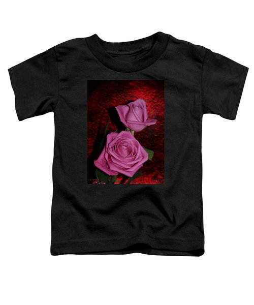 Toddler T-Shirt featuring the photograph A Pair Of Pink Roses by Joanne Smoley