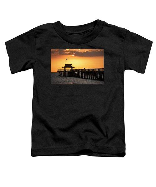 A Pelican Dive-bomb At The Naples Pier Naples Fl Toddler T-Shirt