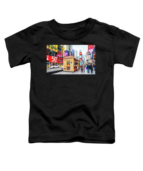 A Portable Food Stand In New York Times Square Toddler T-Shirt