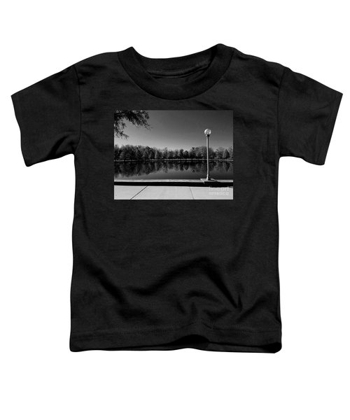 A Reflection Of Fall - Black And White Toddler T-Shirt