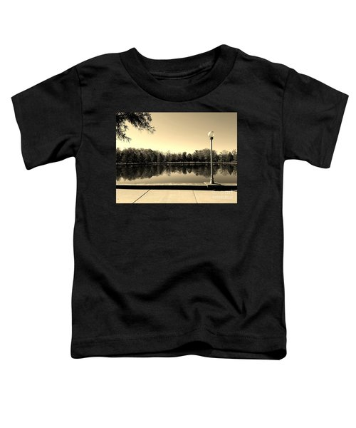 A Reflection Of Fall - Sepia Toddler T-Shirt