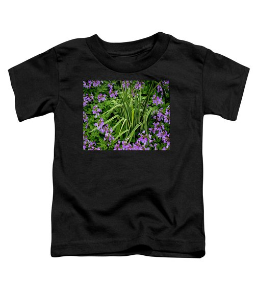 A Ring Of Purple Flowers Toddler T-Shirt