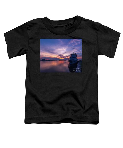A Tugboat Sunset Toddler T-Shirt