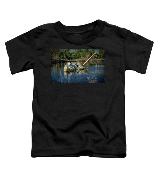 Toddler T-Shirt featuring the photograph Abandoned Ship by Donald Brown