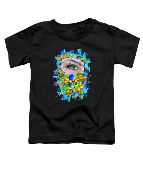 Abstract Digital Art - Delaneo V4 Toddler T-Shirt