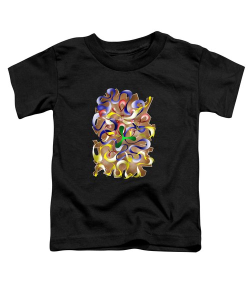 Abstract Digital Art - Jamurina V2 Toddler T-Shirt by Cersatti