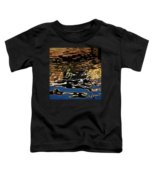 Abstract Dock Reflections II Color Sq Toddler T-Shirt