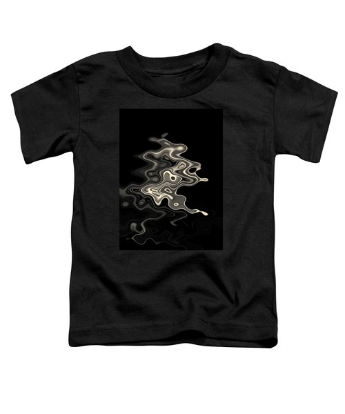 Abstract Swirl Monochrome Toned Toddler T-Shirt