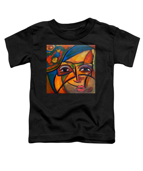 Abstract Woman With Flower Hat Toddler T-Shirt
