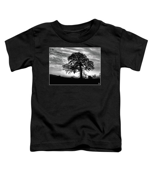 Acacia And Volcano Silhouetted Toddler T-Shirt