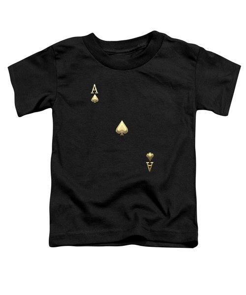 Ace Of Spades In Gold On Black   Toddler T-Shirt
