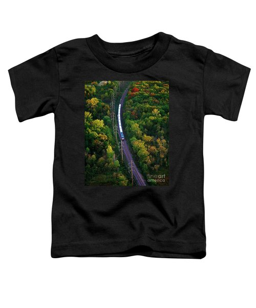 Aerial Of  Commuter Train  Toddler T-Shirt