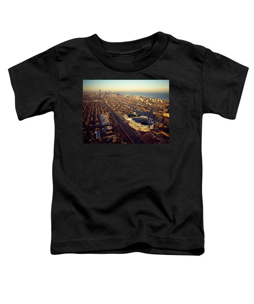Aerial View Of A City, Old Comiskey Toddler T-Shirt by Panoramic Images