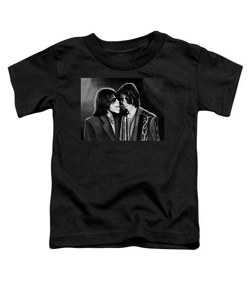 Aerosmith Toxic Twins Mixed Media Toddler T-Shirt by Paul Meijering