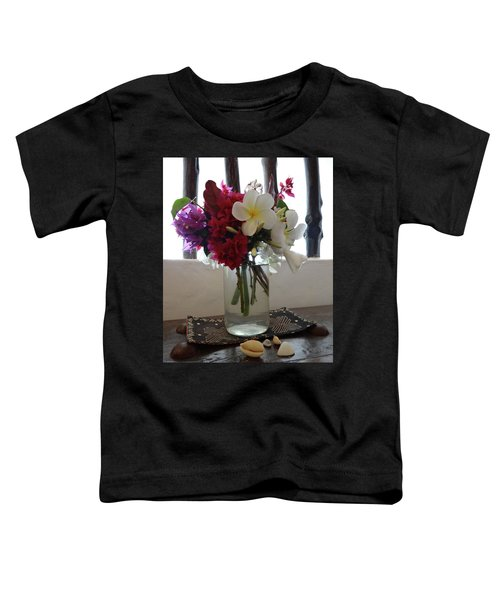 African Flowers And Shells Toddler T-Shirt