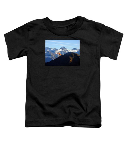 Airplane In Front Of The Alps Toddler T-Shirt