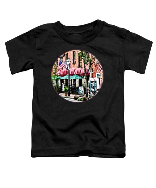 Alexandria Street With Cafe Toddler T-Shirt