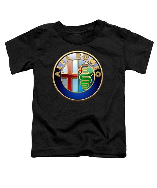 Alfa Romeo - 3 D Badge On Black Toddler T-Shirt