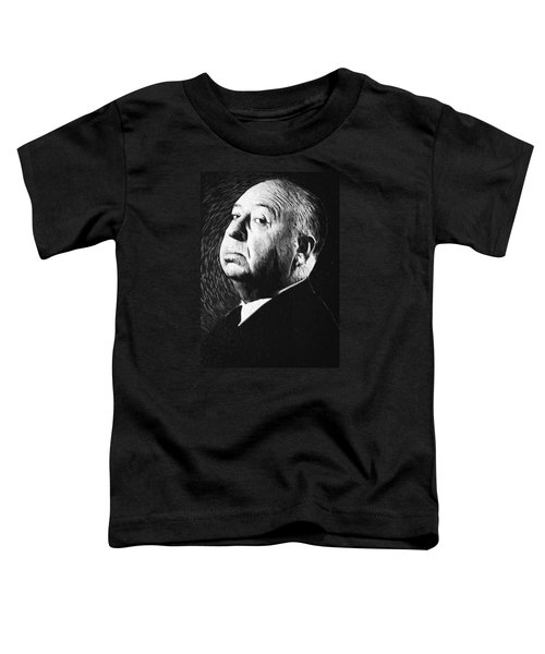 Alfred Hitchcock Toddler T-Shirt by Taylan Apukovska