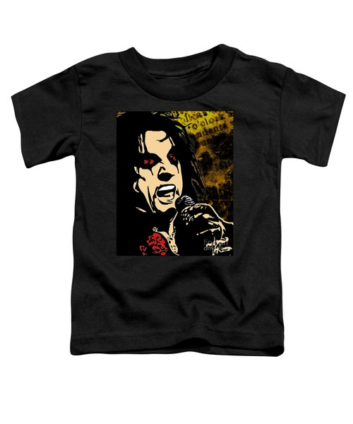 Alice Cooper Illustrated Toddler T-Shirt