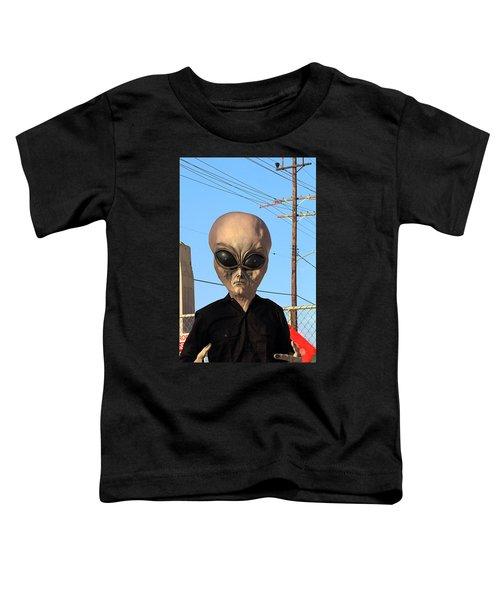 Alien Face At 6th Street Bridge Toddler T-Shirt