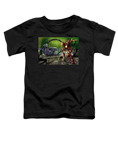 Alien Vs Iron Man Toddler T-Shirt