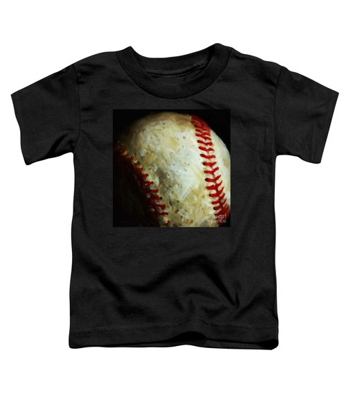All American Pastime - Baseball - Square - Painterly Toddler T-Shirt