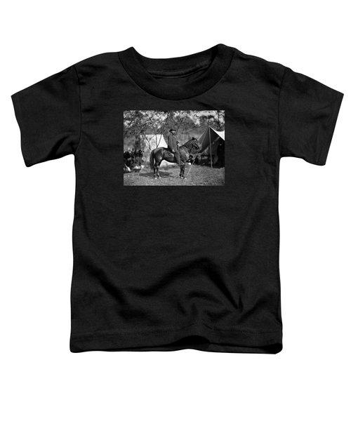 Allan Pinkerton On Horseback - Battle Of Antietam - 1862 Toddler T-Shirt