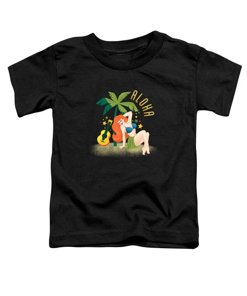 Aloha From Sunny Hawaii Wish You Were Here Toddler T-Shirt