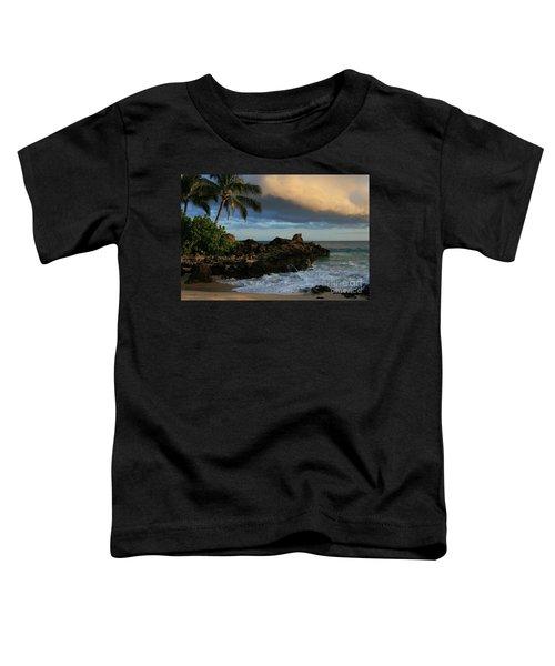 Aloha Naau Sunset Paako Beach Honuaula Makena Maui Hawaii Toddler T-Shirt