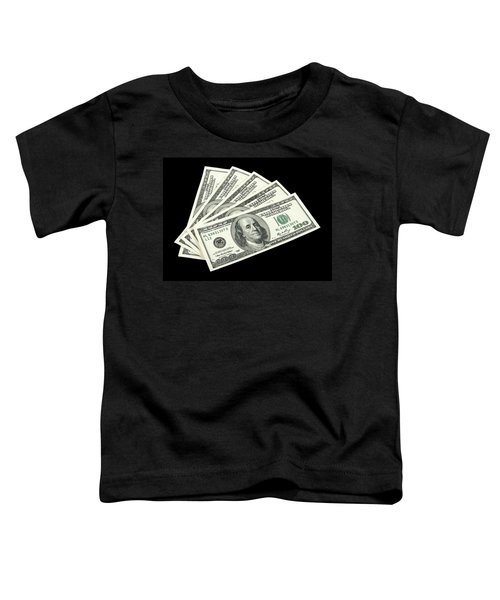 American Money On Black Background Toddler T-Shirt