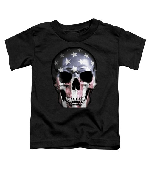 American Skull Toddler T-Shirt