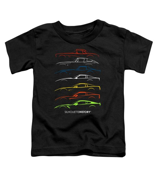 American Sports Car Silhouettehistory Toddler T-Shirt