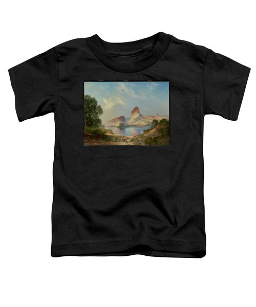 Toddler T-Shirt featuring the painting An Indian Paradise , Green River, Wyoming by Thomas Moran