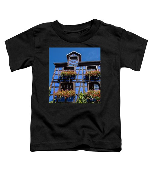 Ancient Alsace Auberge In Blue Toddler T-Shirt