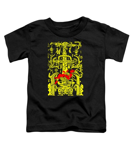 Ancient Astronaut Yellow And Red Version Toddler T-Shirt